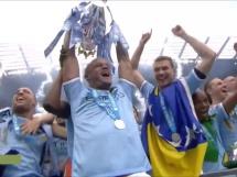 Radość piłkarzy Manchesteru City po zdobyciu mistrzostwa Anglii