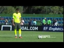 Sprytny rzut karny Neymara