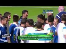 Sobowtór Ronaldinho na treningu Argentyny!