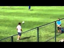 Trening Aguero i Messiego przed meczem z Iranem