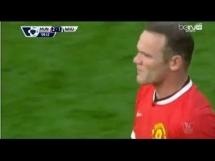 Brutalny faul Rooneya na czerwoną kartkę!