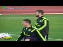 Obelgi w stronę Piqué podczas treningu reprezentacji