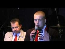 Wypowiedź kibica Widzewa Łódź na zakończenie Marszu Niepodległości
