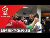 Szatnia Rep. Polski tuż po meczu z Gruzją
