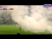 Race na boisku podczas meczu Włochów z Chorwacją
