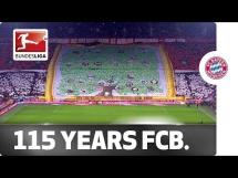 Oprawa kibiców Bayernu na 115. urodziny klubu