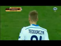 Bramka Teodorczyka w meczu z Evertonem