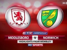 Middlesbrough - Norwich City 0:2