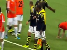 Bójka piłkarzy AIK Stockholm i Shirak Giumri