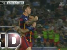 Ależ błąd obrońców Sevilli! Bramka Suareza!