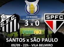 Santos 3:0 Sao Paulo