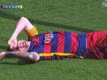 Kontuzja Messiego w meczu z Las Palmas