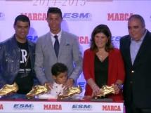 Cristiano Ronaldo odebrał Złotego Buta!