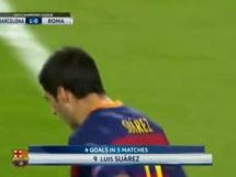 Bramka Suareza na 1-0 z Romą