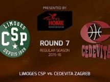 Limoges 69:78 Cedevita Zagreb
