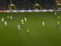 Gol Milika w meczu z Celtikiem Glasgow