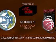 Maccabi Electra Tel Awiw 85:65 Brose Baskets