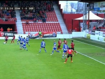 Mirandes 1:1 Deportivo La Coruna