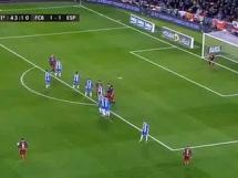 Piękny gol Messiego z rzutu wolnego w meczu z Espanyolem