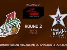 Lokomotiv Kubań 78:77 Anadolu Efes