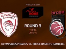 Olympiacos Pireus 72:77 Brose Baskets