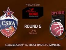 CSKA Moskwa 91:70 Brose Baskets