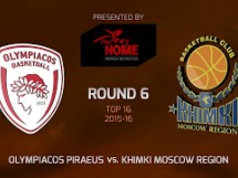 Olympiacos Pireus 89:77 Chimki Moskwa