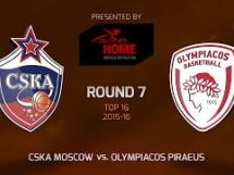 CSKA Moskwa 92:85 Olympiacos Pireus