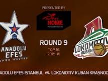 Anadolu Efes 61:76 Lokomotiv Kubań