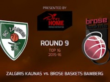 Żalgiris Kowno 75:73 Brose Baskets
