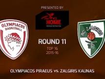 Olympiacos Pireus 74:59 Żalgiris Kowno