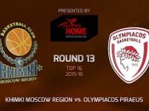 Chimki Moskwa 98:66 Olympiacos Pireus