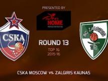 CSKA Moskwa 100:86 Żalgiris Kowno