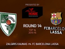Żalgiris Kowno 59:66 Regal Barcelona