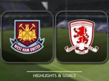 West Ham United 1:1 Middlesbrough