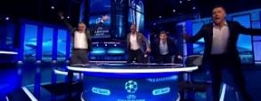 Szaleństwo w studio BT Sport po golu Roberto!