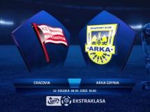 Cracovia Kraków 2:0 Arka Gdynia