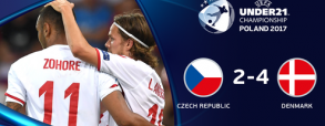 Czechy U21 2:4 Dania U21