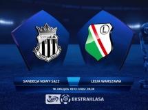 Sandecja Nowy Sącz - Legia Warszawa 2:2
