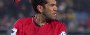 Dani Alves stanął na bramcę po czerwonej kartce Trappa