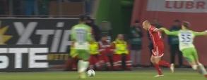 Gol Lewandowskiego z rzutu karnego z Wolfsburgiem!