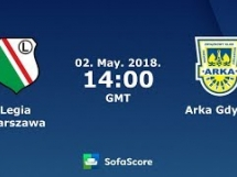 Arka Gdynia 1:2 Legia Warszawa