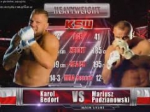 Karol Bedorf 1:0 Mariusz Pudzianowski