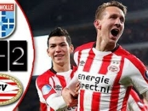 PEC Zwolle 1:2 PSV Eindhoven