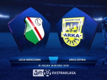 Legia Warszawa 1:1 Arka Gdynia