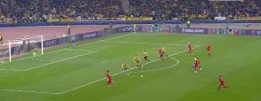 Gol Roberta Lewandowskiego z AEK