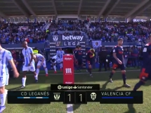 Leganes 1:1 Valencia CF