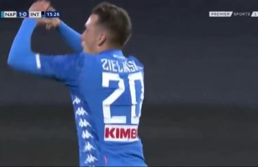 Fantastyczny gol Zielińskiego przeciwko Interowi! [Wideo]