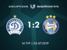 Dynamo Mińsk 1:2 BATE Borysów