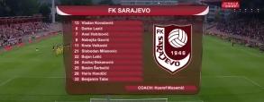 Sarajevo 1:2 BATE Borysów